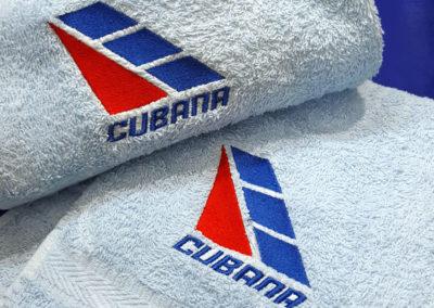 Bordado de toalla para Cubana de Aviación