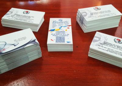 Papelería: tarjetas de presentación para varios clientes