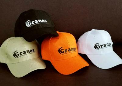 Impresión textil sobre gorra para el Instituto de Investigaciones sobre Granos