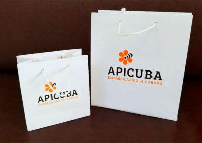 Papelería: bolsas de papel para Apicuba