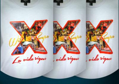 Impresión textil: pulóver para el popular artista cubano Will Campa