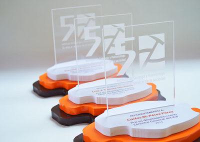 Realización / Montaje: Diseño y realización de premios con diferentes materiales