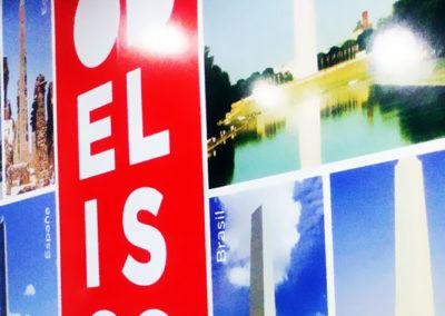 Grandes formatos: Gigantografia para la cafetería Obelisco