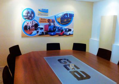 Grandes formatos: Cartel para salón de reuniones en Grupo Empresarial de Servicios de Transporte Automotor (GEA)